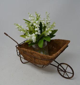 Rustic Wheelbarrow Planter