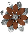 Brown and Silver Metal Wall Flower