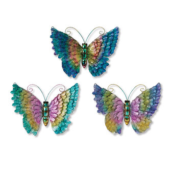 Metallic Colorful Wall Butterfly