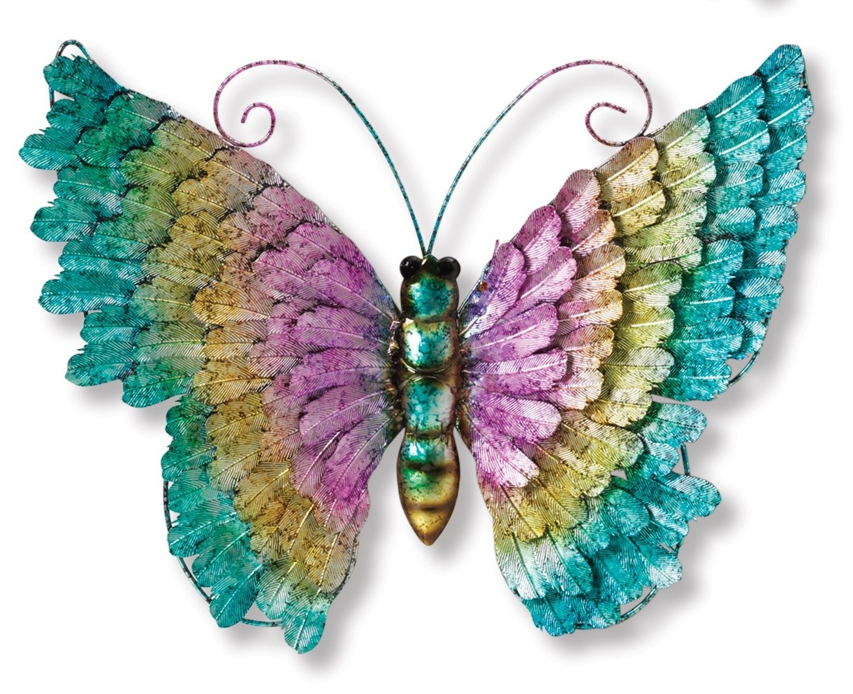 Metallic Colorful Wall Butterfly (3-Styles)