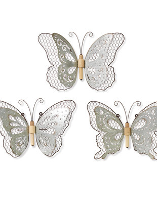 Galvanized Chicken Wire Wall Butterfly (3 Styles )