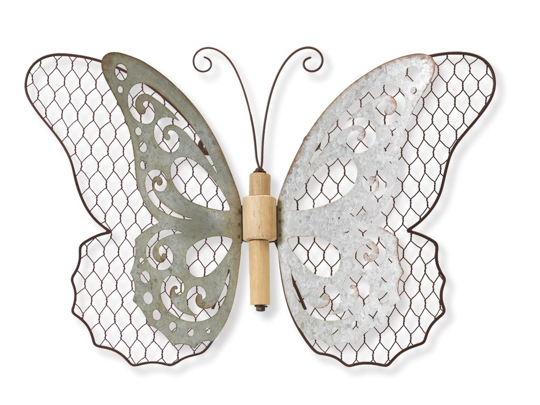 Galvanized Chicken Wire Wall Butterfly