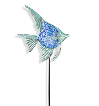 Scrolled Solar Metal Fish Stake (4 Colors)