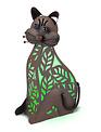 Green Solar Sitting Cat