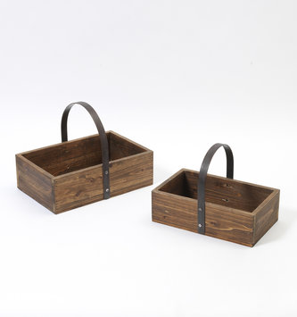 Rustic Wooden Tray Planter (2 Sizes)