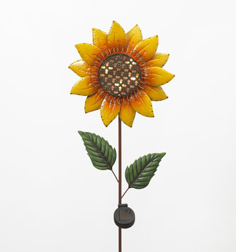 Solar Lighted Sunflower Stake
