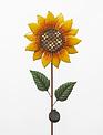 Solar Lighted Sunflower Stake