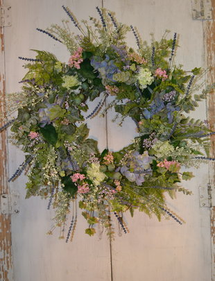 Custom Periwinkle Wreath