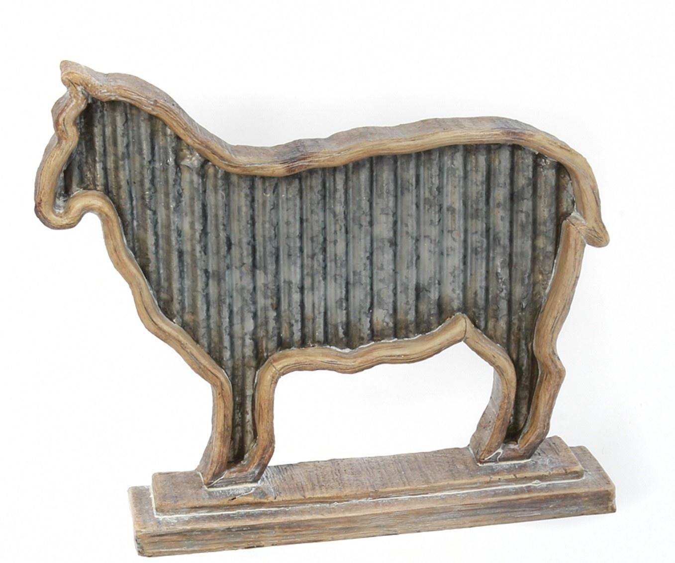 Ridged Metal Tabletop Animal