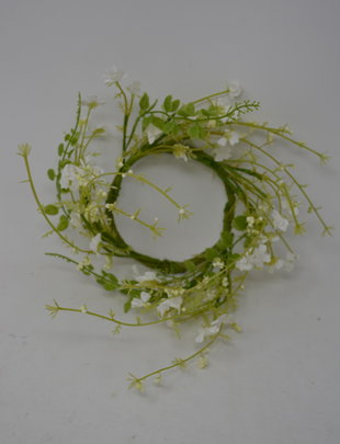 "4.5"" White Meadow Candle Ring"