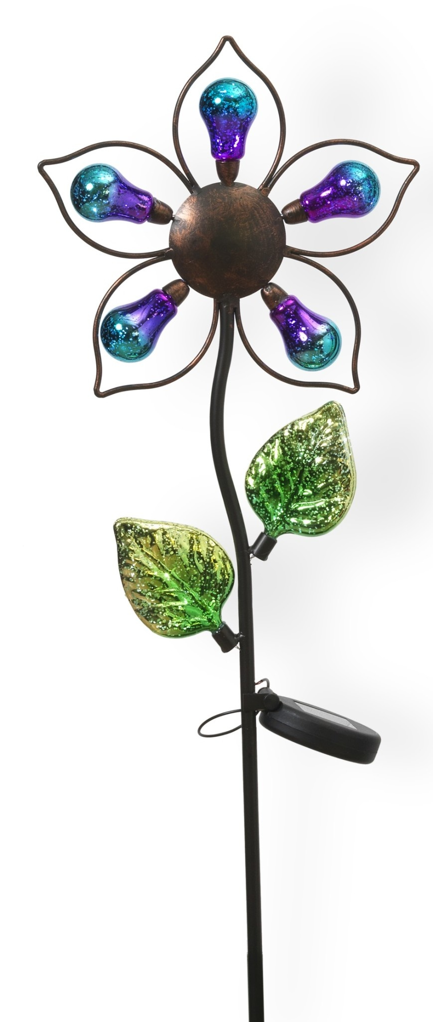 Solar Lighted Colorful Flower Stake