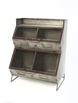 Metal Two Tier Storage Bin