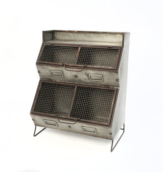Metal Two Tier Storage Bin