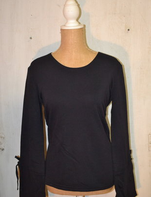 Sailor Navy Bell Sleeve Top