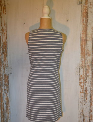Striped Knit Tank Dress (2 Colors)