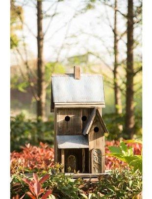 Rustic Galvanized Roof Birdhouse