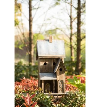 Rustic Galvanized Roof Birdhouse