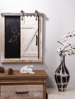 Farmhouse Chalkboard w/ Rolling Barn Door