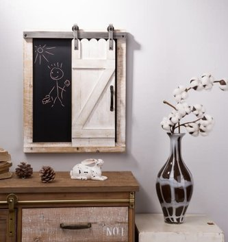 Farmhouse Chalkboard with Rolling Barn Door