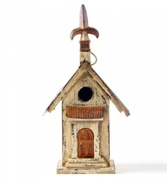 Small Distressed Rustic Birdhouse