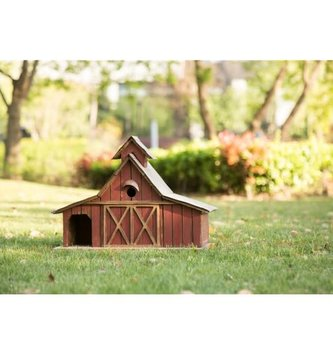 Large Rustic Wooden Barn Birdhouse
