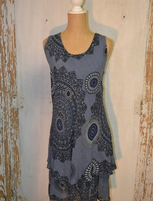 Paisley Bias Cut Cotton Dress