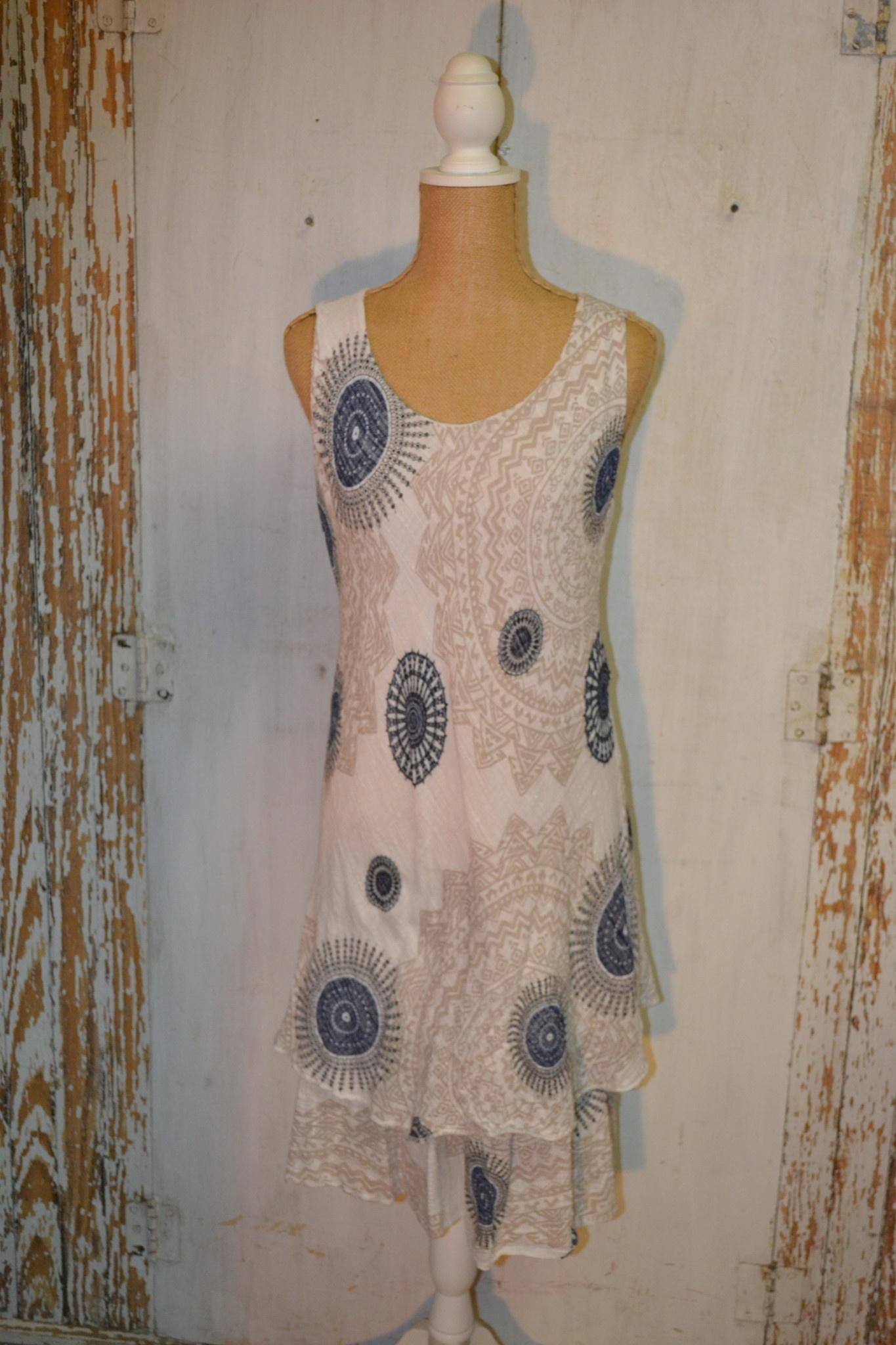 Paisley Bias Cut Cotton Dress