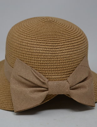 Straw Hat w/ Bow (6 Styles)