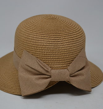 Straw Hat w/ Bow (6 Styles)