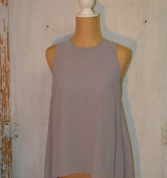 High Low Georgette Sleeveless Top (5 Colors)