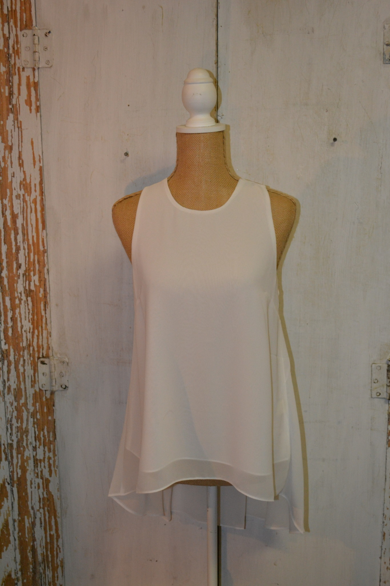 High Low Georgette Sleeveless Top