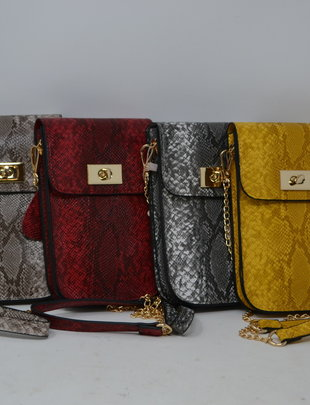 Snake Print Touchscreen Crossbody