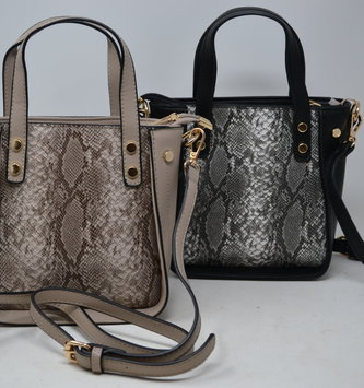 Snake Print Mini Satchel Bag