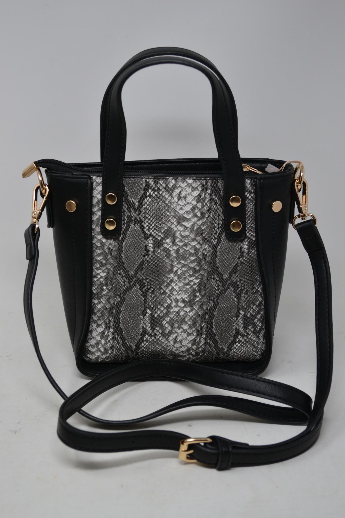 Snake Print Mini Satchel Bag