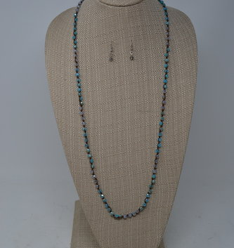 Ocean Blue Beaded Necklace Set