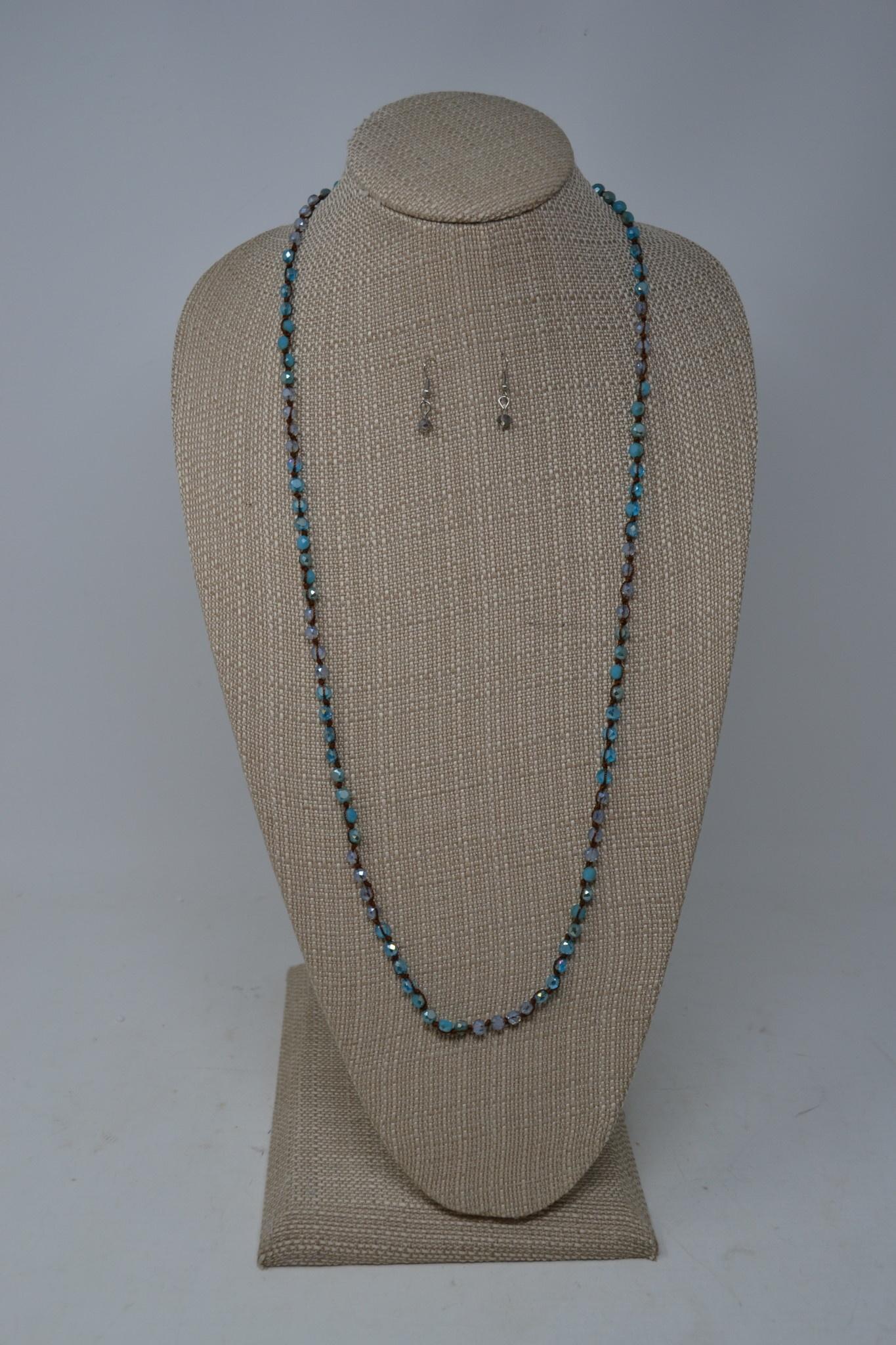 Ocean Blue Beaded Necklace Set