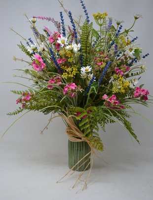 Custom  MIxed Wildflower Grass Vase