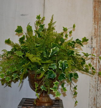 Custom Mixed Greenery in Pedestal