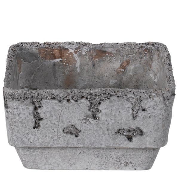 Distressed Cement Container