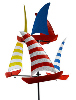 Sailboat Spinner Yard Art