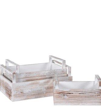 Whitewashed Handled Tray