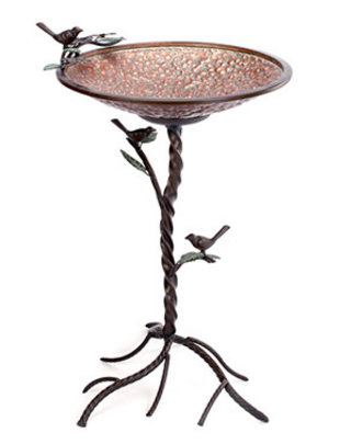 Copper Verdi-Gris Bird Bath