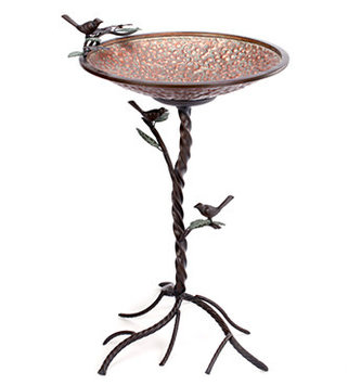 Large Copper Verdi-Gris Bird Bath