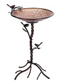 Large Copper Verdi-Gris Bird Bath