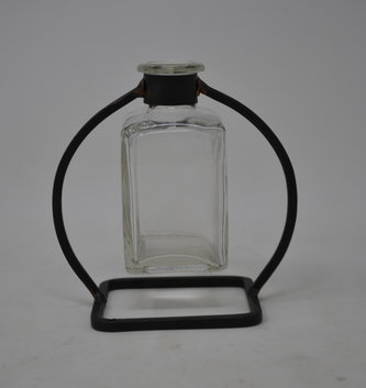 Small Square Bud Vase and Stand