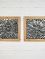 """16"""" Square Tin Tile Wall Art"""