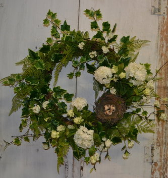 Custom Bird's Nest Wreath