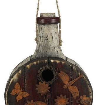 Rustic Wooden Bottle Birdhouse