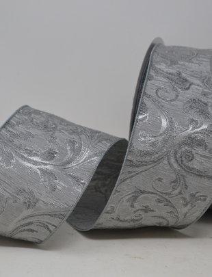 Silver Filigree Scroll Ribbon