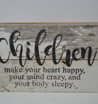 Children Reclaimed Pallet Sign